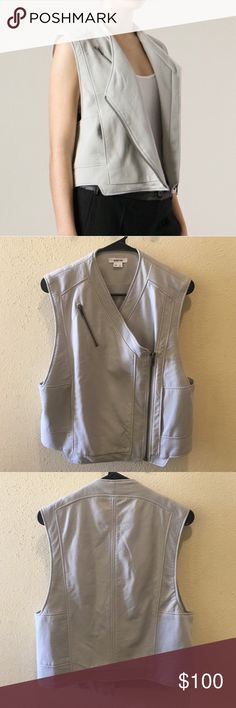Authentic leather Helmut Lang vest Reposh. Bought this off here and it's gorgeous but I never have a chance to wear it. Deserves to go to a good home. Beautiful piece  Suggested user! Top rated seller Always authentic Smoke free house No trades Posh transactions only Open to REASONABLE offers Helmut Lang Jackets & Coats Vests