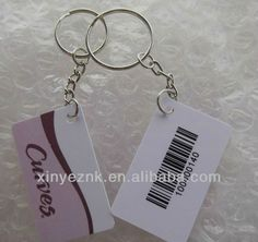 SMALL PVC CARD key tag with barcode