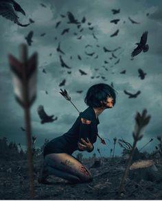 Turkish Artist Hüseyin Şahin Creates Stunning Imaginative And Dreamlike Photo Manipulations Hüseyin Şahin a.aspect (in the past) is a skilled artwork director, virtual and. Dark Fantasy, Fantasy Art, Sad Art, Anime Kunst, Gothic Art, Photo Manipulation, Art Girl, Amazing Art, Awesome