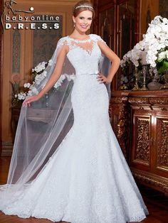 Vestidos De Noiva Sereia Renda Mermaid Beads Lace Mermaid Wedding Dress 2015  Applique Bride Dresses Bridal Dress Gown