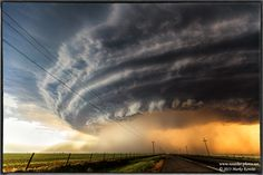 Brave Storm Chaser Captures Mothership-Like Supercell Storm Photography