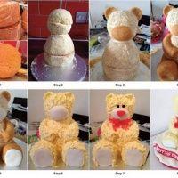 DIY 3D Teddy Bear Cake