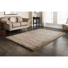 Furness Mink Shaggy Rug 110 x 160cm. High resistance 100% heat set polypropylene pile. Shake and/or spot clean with damp cloth. 5 colours available.