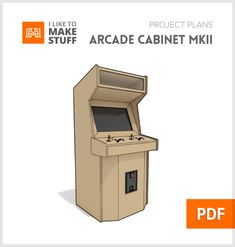 This set of digital plans is for the newer Arcade Cabinet we made for Mortal Combat It is different from the previous cabinet we have offered. Huge Kitchen, Kitchen Art, Kitchen Design, Woodworking Plans, Woodworking Projects, Diy Projects, Custom Woodworking, Arcade Cabinet Plans, Make Cornhole Boards