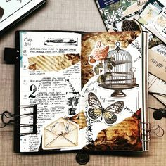 Art journal pages and scrapbook inspiration ideas for travel journaling art j Art Journal Pages, Bullet Journal Art, Daily Journal, Bullet Journal Inspiration, Writing Inspiration, Fantasy Character, Creations, Sketches, Drawings