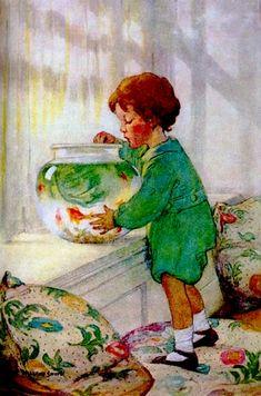 """Jessie Willcox Smith-""""Goldfish"""""""
