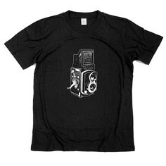 Old Camera, twin lens camera Tshirt   hand screen by GreenlakeTee, $15.00