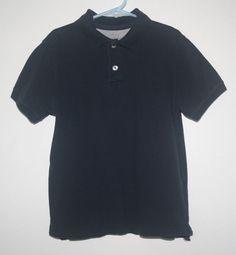 Boys Faded Glory Vintage Polo Short Sleeve Navy XS 4/5 100% Cotton #FadedGlory #DressyEveryday