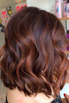 Dark chestnut auburn highlights