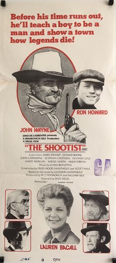 The Shootist western original vintage film movie daybill poster, available from our website.