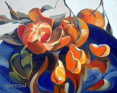 """""""Tangerines on Blue"""" sold 