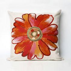 $63 Visions III Daisy Orange Pillows