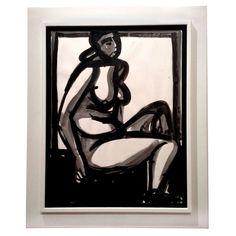 Framed Nude by American Michael Loew, 1968 | 1stdibs.com