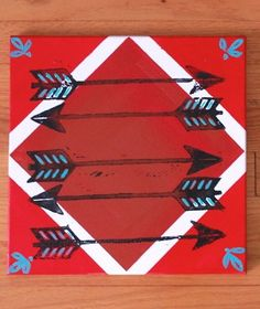 Pi Phi arrow painting- DIY big or little gift idea #piphi #pibetaphi