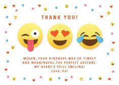 Thankful emojis - Thank You Card #greetingcards #printable #diy #thankyou #notes #thanks