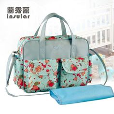 MultiColored diaper bag outdoor baby care nappy bags waterproof  multifunctional mother shoulder bag Large-capacity a16f6da3a0