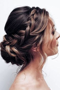 36 Pretty Chic Braided Hairstyles For Every Hair Type braids;easy braids… 36 Pretty Chic Braided Hairstyles For Every Hair Type braids;up style; Wedding Hairstyles For Medium Hair, Pretty Hairstyles, Natural Hairstyles, Hairstyle Ideas, How To Updo For Medium Hair, Hairstyle For Women, Simple Bride Hairstyles, Hairstyles For Weddings Bridesmaid, Prom Hairstyles For Medium Hair