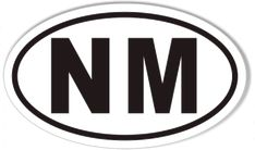 NM New Mexico Oval Sticker
