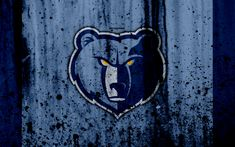 Download wallpapers 4k, Memphis Grizzlies, grunge, NBA, basketball club, Western Conference, USA, emblem, stone texture, basketball, Southwest Division