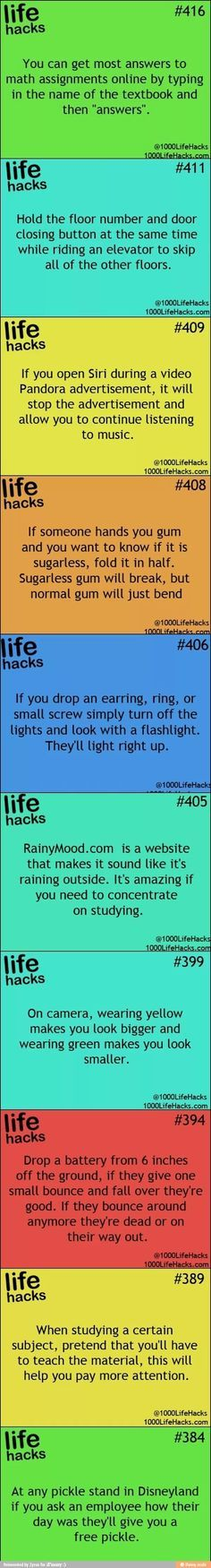 Life hacks- not sure how legit this is lol but neat, if so! Hack My Life, Simple Life Hacks, Useful Life Hacks, Way Of Life, Life Is Good, It Wissen, 1000 Lifehacks, Info Board, Making Life Easier