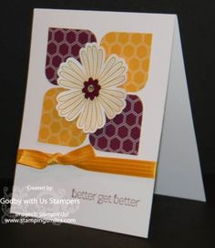 Stampin' Up! Mixed Bunch Card Idea www.stampingsmiles.com