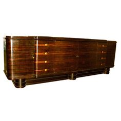 Large Macassar Sideboard | From a unique collection of antique and modern sideboards at http://www.1stdibs.com/furniture/storage-case-pieces/sideboards/