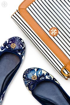 Tory Burch Chelsea Ballet #Flat & Viva Crossbody Bag