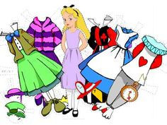 Alice in Wonderland paperdoll.