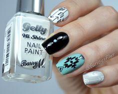 Tribal Design nail art by furiousfiler