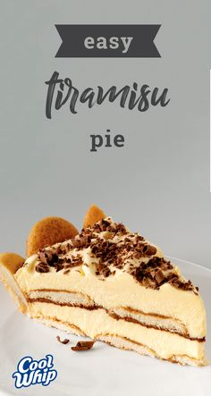 Easy Tiramisu Pie – It's tiramisu. And it's an easy-to-make pie. This delectable dessert sports layers of creamy pudding and delicate vanilla wafers all drizzled with coffee. Now this is a recipe everyone can get on board with!
