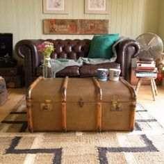 SAFARI british COLONIAL empire CAMPAIGN 30s bentwood STEAMER trunk COFFEE TABLE