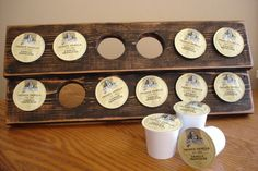 Wood K-cup Holder use pallet wood to make this too
