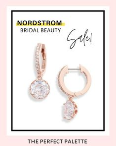 Crystal Drop, Bridal Beauty, Fashion Beauty, Fashion Jewelry, Nordstrom, Drop Earrings, Personalized Items, Crystals, Wedding