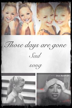 Chapter 3!! Sad Song (dance moms fanfic) by @ dmomsfanpage. The whole fanfic is in Maddies POV.  Read in the comments! And please give me feedback!