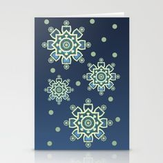 Celtic Snowflake Stationery Cards