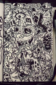 2011-2012 DOODLES Batch 3 : Moleskin Drawings by Lei Melendres, via Behance