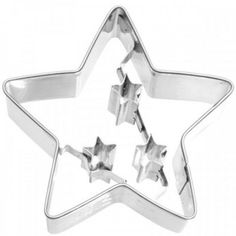 Cutter / cookie cutter star with small stars by AusgestochenGut