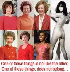 First Ladies...One of these is not like the others. Melania Trump 06.17.2018