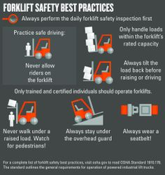 Posted originally by @Toyotaforklift Great forklift safety tips