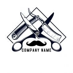 A barber shop logo Template Barber Poster, Barber Logo, Best Barber Shop, Barber Shop Decor, Logo Barbier, Hair Salon Logos, Barber Tattoo, Barbershop Design, Logo Templates