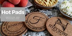 Looking for a personalized gift? Choose from our wide selection of personalized wedding gifts, housewarming gifts and more. Find the perfect unique gift for anyone on your list. Personalised Gifts Unique, Personalized Wedding Gifts, Unique Gifts, Hot Pads, House Warming, Kitchen Decor, Christmas Gifts, Food, Xmas Gifts