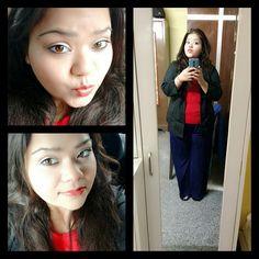 Because it's Sunday.... #ootd #fotd #makeup #selfie #neutrallook #silvereyeliner from @lorealmakeup #brownlips #makeupfie #hercreativepalace #kanikasharma #blogger #youtuber #delhi #india #weekend #sunday #longdrive #todayslook #fun #greatgrandmasti #pout #kannu #bblogger