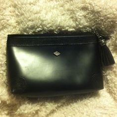 Joseph Abboud bag Made in Italy, quality black leather bag. Zippered closure with tassel. Never used. Accessories