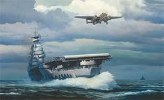 Doolittle Raider painting Rising into the Storm, William S. Phillips MASTERWORK CANVAS EDITION