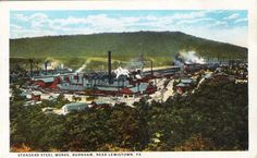 Standard Steel Works,Burnham,near Lewistown,Pa 1cent postcard