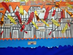 The great fire of London Display Great Fire Of London, The Great Fire, Fire And Ice, Art School, Homework, Kids Rugs, Display, French, Decor