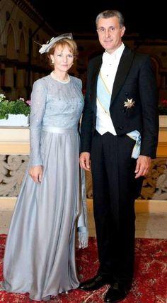 Princess Margarita of Romania and Prince Radu (Principesa Margareta a Romaniei si Principele Radu) Romanian Royal Family, Royal Families Of Europe, Gala Gowns, Casa Real, Blue Gown, First Daughter, Blue Bloods, Royal House, Lady And Gentlemen