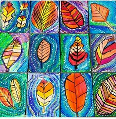 Third grade is stealing my heart with these beauties🖌🍁🍂🍃 thanks again for the super lesson idea! Fall Art Projects, Classroom Art Projects, School Art Projects, Art Classroom, Elementary Art Rooms, Art Lessons Elementary, 2nd Grade Art, Ecole Art, Kindergarten Art
