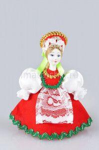 """Елочная игрушка """"Кукла в русском костюме"""", №2"""