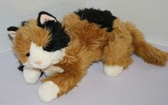 "TY Classic Plush CARLEY the Calico Cat 11"" Stuffed Animal Soft Toy Brown Black #Ty #TyClassic"